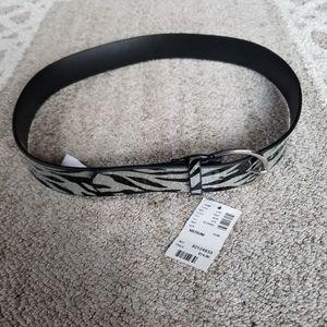 NWT Justice Sparkly Zebra Belt